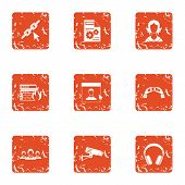 Remedy Icons Set. Grunge Set Of 9 Remedy Vector Icons For Web Isolated On White Background poster