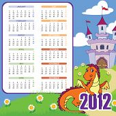 Calendar With Cute Dragon