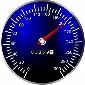 foto of speedo  - a illustration of a speed meter from a dashboard - JPG