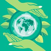 World Environment Day. Earth Day. Poster On The Theme Of Preservation Of The Environment. The Planet poster