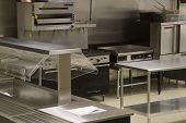 pic of convection  - A look into a stainless steel restaurant kitchen - JPG