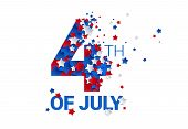Fourth Of July Background - American Independence Day Vector Illustration - 4th Of July Typographic  poster