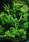 Surreal Green Plant poster
