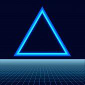 Future Retro Line Background Of The 80s. Vector Futuristic Synth Retro Wave Illustration In 1980s Po poster