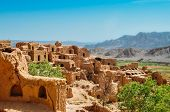 Ruins Of The Abandoned Mud Brick City Kharanaq Near The Ancient City Yazd In Iran. poster