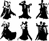 picture of waltzing  - silhouettes of people dancing the waltz  - JPG