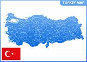 The Detailed Map Of Turkey With Regions Or States And Cities, Capital. Administrative Division poster