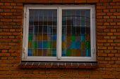 Helsingor, Elsinore, Denmark: The Window Of The House. Street View In Helsingor. Helsingor Is A City poster
