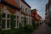 Helsingor, Elsinore, Denmark: Street View In Helsingor. Helsingor Is A City In Eastern Denmark, It K poster