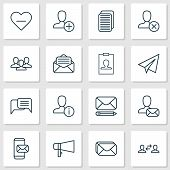 Communication Icons Set With Inbox, Communication, Staff And Other Edit Elements. Isolated Illustrat poster
