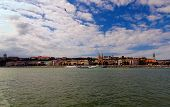 Panoramic View Of Picturesque Danube River And Buda Side With Fisher Bastion And Buda Castle (royal  poster