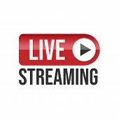 Live Stream Tv Logo Icon Vector poster