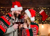 Man And Woman In Love Cuddling Enjoy Intimacy Festive Atmosphere. Romantic Evening. Romantic Couple. poster