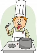 Illustration of a Chef Expressing Disgust