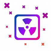 Color Radioactive Icon Isolated On White Background. Radioactive Toxic Symbol. Radiation Hazard Sign poster