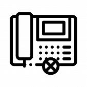 Broken Telephone Icon Vector. Outline Broken Telephone Sign. Isolated Contour Symbol Illustration poster