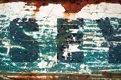 Weathered Type Stencil poster