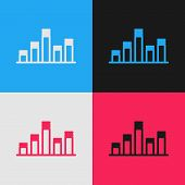 Color Line Music Equalizer Icon Isolated On Color Background. Sound Wave. Audio Digital Equalizer Te poster