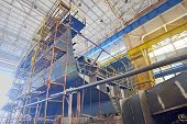 foto of shipbuilding  - Ship building shoot  inside of shipyard - JPG