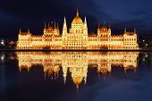 Budapest - Hungarian Parliament  At Night - Hungary