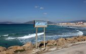 picture of tarifa  - Atlantic ocean coast in Tarifa - JPG
