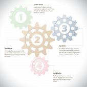 Infographic Template With Cogwheels