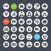 stock photo of speaker  - Set of vector icons for business - JPG