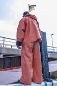 Safety work - Sailor wearing a protective uniform