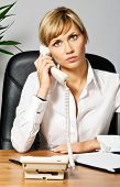 Beautiful Business Lady On Phone