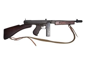 stock photo of tommy-gun  - WWII period Tommy - JPG