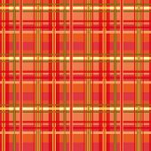 stock photo of kilt  - Tartan plaid seamless pattern red tones - JPG
