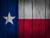 image of texans  - Texas state grunge background with texan flag painted on wooden aged wall - JPG