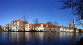 Skyline Of The Medieval City Of Lubeck, Germany
