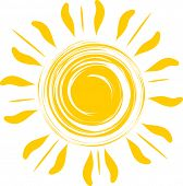 pic of abstract painting  - Abstract sun illustration - JPG