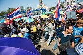 Bangkok - November - 04Th - The Protesters Against An Act Of Legislation Amnesty Around Wat Pra Keaw
