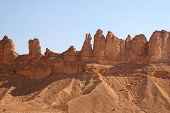 image of riyadh  - Clay rocks surrounding Riyadh city in Saudi Arabia - JPG