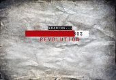 picture of revenge  - Loading revolution draw on a grunge background - JPG