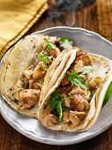 pic of cilantro  - authentic mexican tacos with chicken and cilantro - JPG