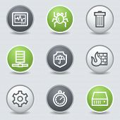 stock photo of shield-bug  - Internet security web icons - JPG