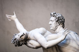 image of centaur  - An image of the Rape of the Sabine Women in Florence Italy - JPG