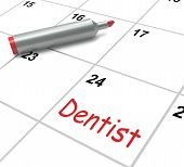 picture of oral  - Dentist Calendar Showing Oral Health And Dental Appointment - JPG