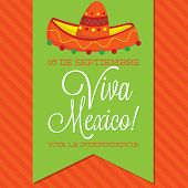 pic of mexican fiesta  - Retro Style Viva Mexico  - JPG