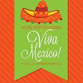 pic of mexican fiesta  - Retro Style Viva Mexico  - JPG