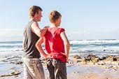 pic of playtime  - Girl Boy Beach Morning Holidays explore playtime fun relax - JPG