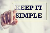 Keep It Simple On A Virtual Screen poster