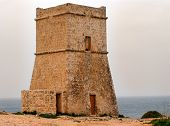 stock photo of reign  - Maltese watch tower - JPG