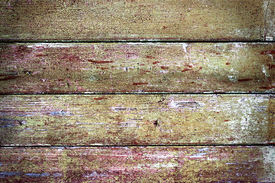 foto of lewd  - Worn old lewd and paint boards - JPG