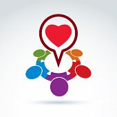 stock photo of pharmaceutical company  - Heart and society icon medical organization medical fund love theme conceptual special icon for your design - JPG