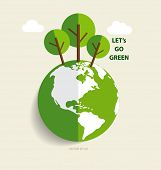 stock photo of save earth  - Green Eco Earth - JPG