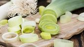 stock photo of leek  - Fresh Leek  - JPG